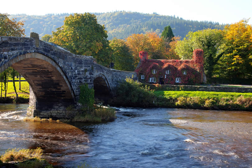 llanwrst Bridge Snowdonia North Wales