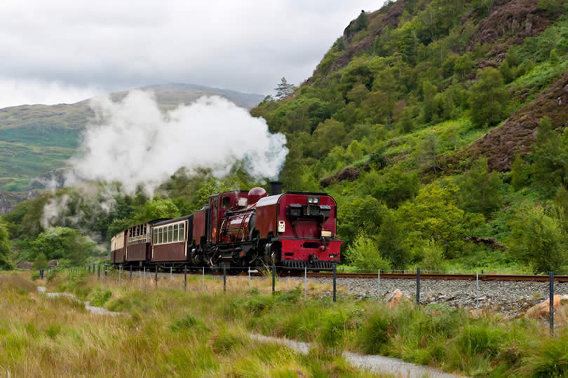 Steam train Snowdonia National Park