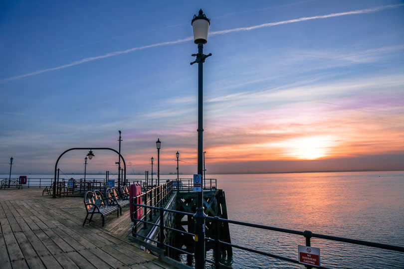 Southend on Sea pier sunset