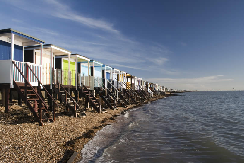 Beach Huts at Thorpe Bay near Southend-on-Sea