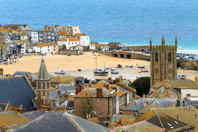 Harbour view of St Ives in Cornwall