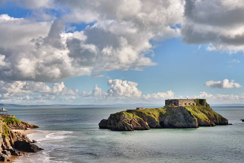 St Catherines Island in Tenby Pembrokeshire Wales