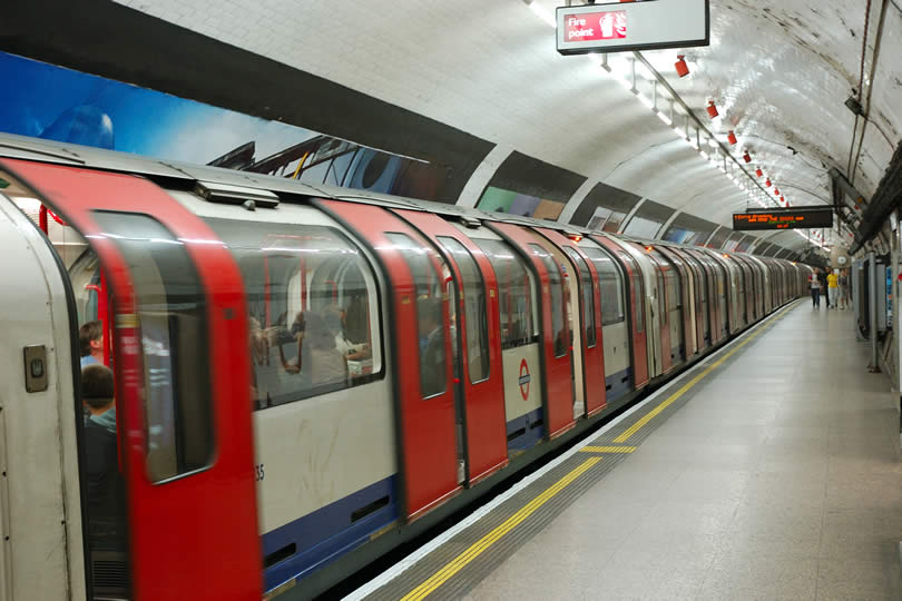 London Tube Station and Train