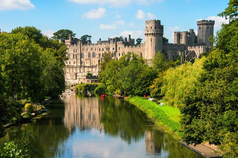Warwick medieval castle from outside