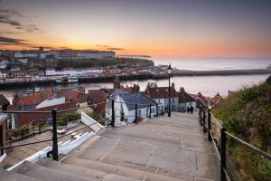 199 steps Whitby in North Yorkshire UK