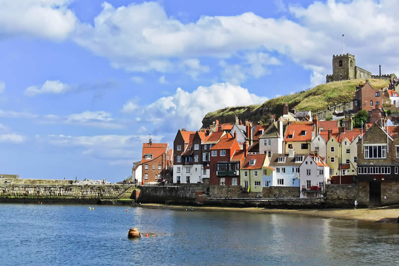 Whitby Harbour in England
