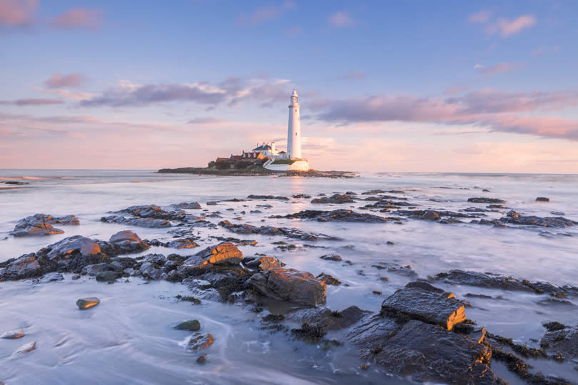 St Mary's Lighthouse in Whitley England