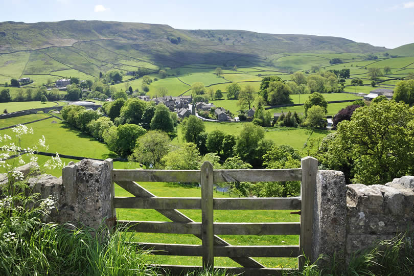 Burnsall village in England