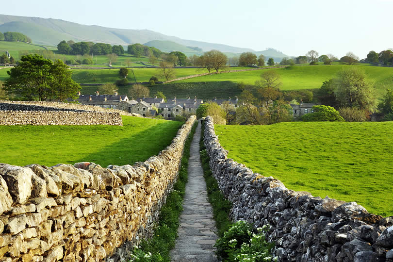 Sedber lane in Grassington Yorkshire Dales National Park,