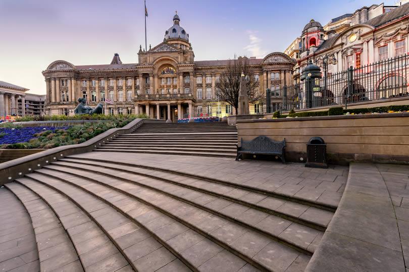 Victoria Square in Birmingham England