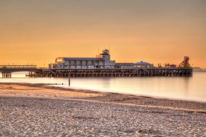Sunrise Bournemouth Pier in England