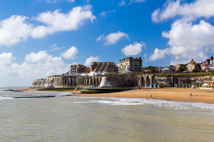 Broadstairs beach and town centre