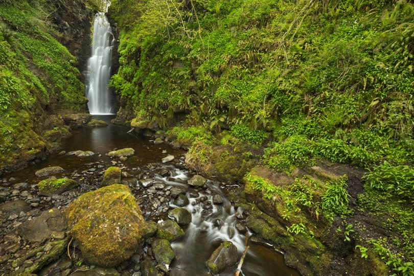 Cranny Falls near Carnlough in Northern Ireland