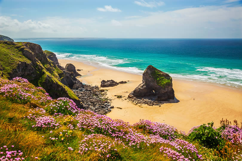 Bedruthan Steps North Cornwall UK