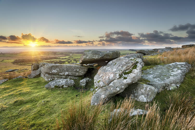 Bodmin Moor in Cornwall UK