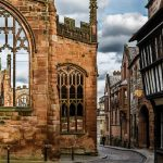 Ruins of St Michael Cathedral Coventry in England