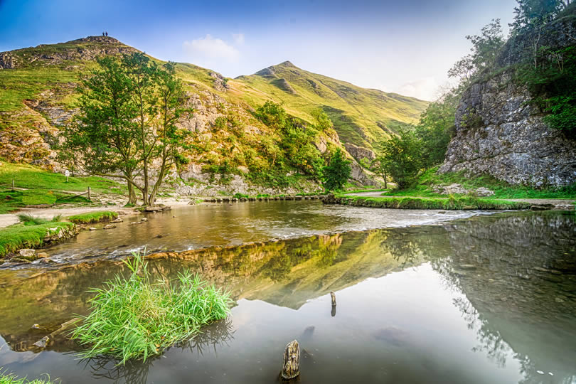 river Dove at Dovedale in the English Peak District