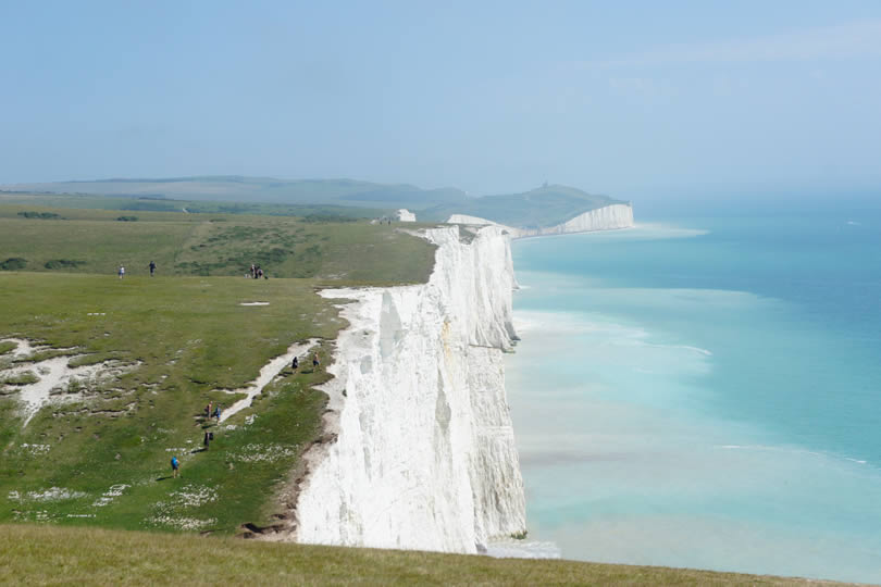 White Cliffs of Dover in England UK