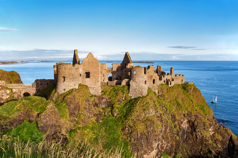 Dunluce castle in County Antrim Northern Ireland