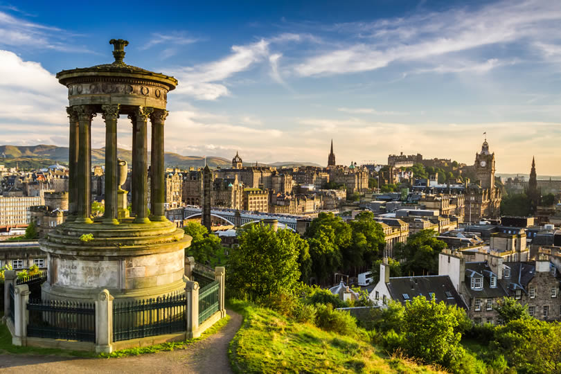 Edinburgh city centre from Calton Hill