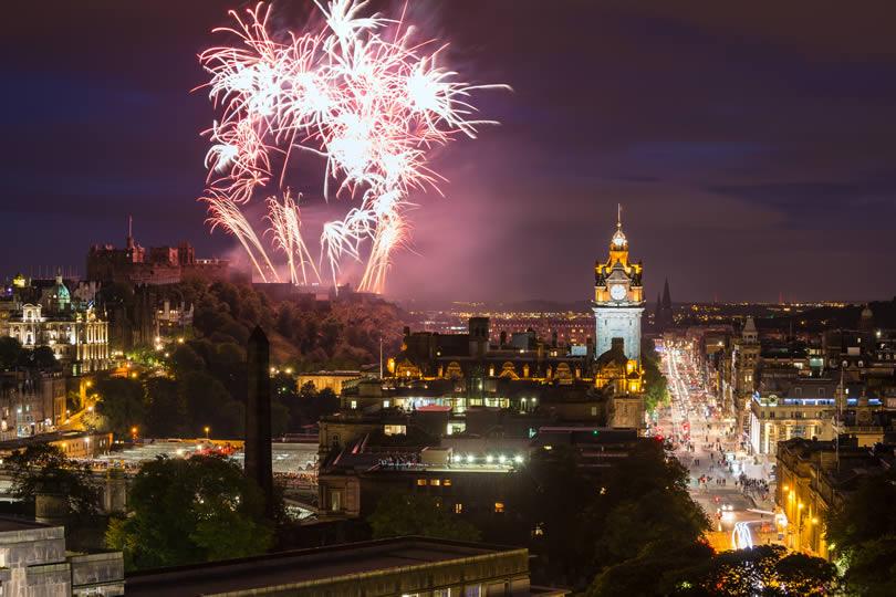 Edinburgh Fringe Festival Fireworks
