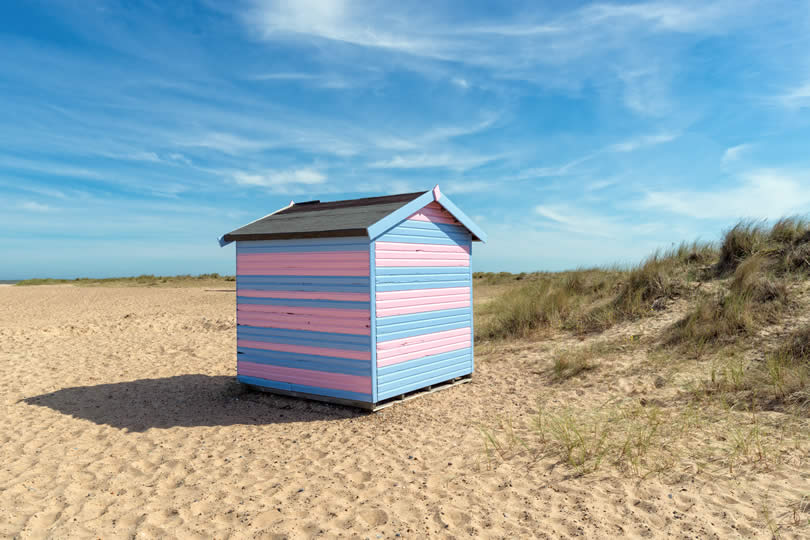 Beach hut at Great Yarmouth in Norfolk