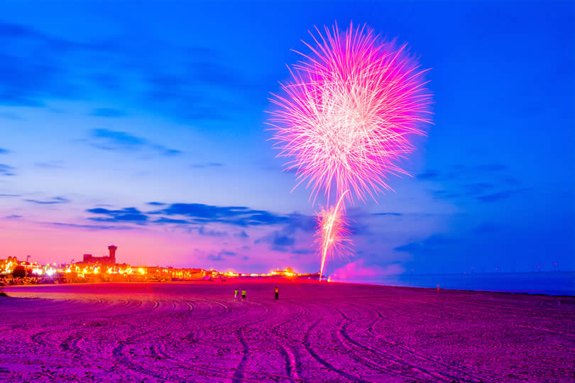 Summer fireworks in Great Yarmouth