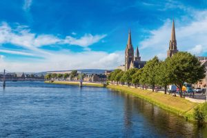Inverness city centre Scotland