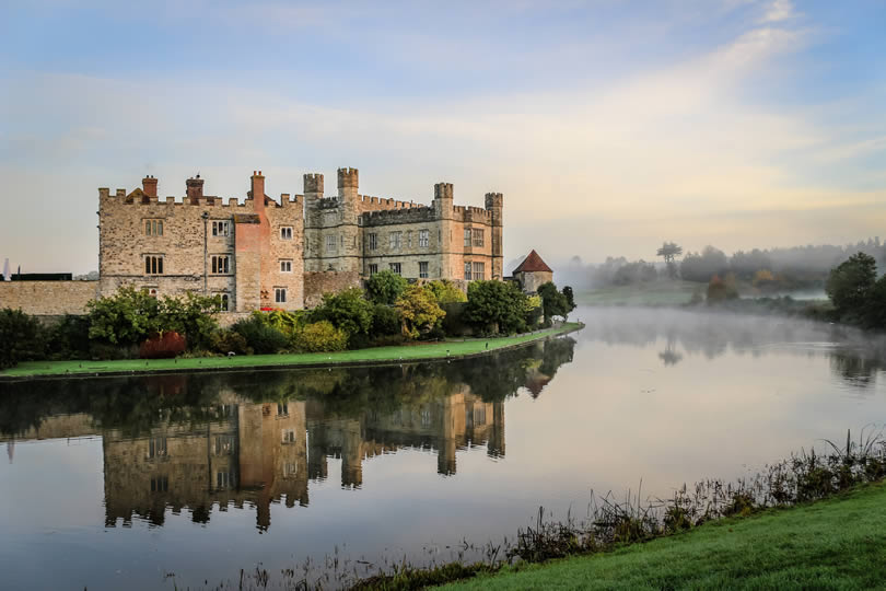 Leeds Castle reflection in river