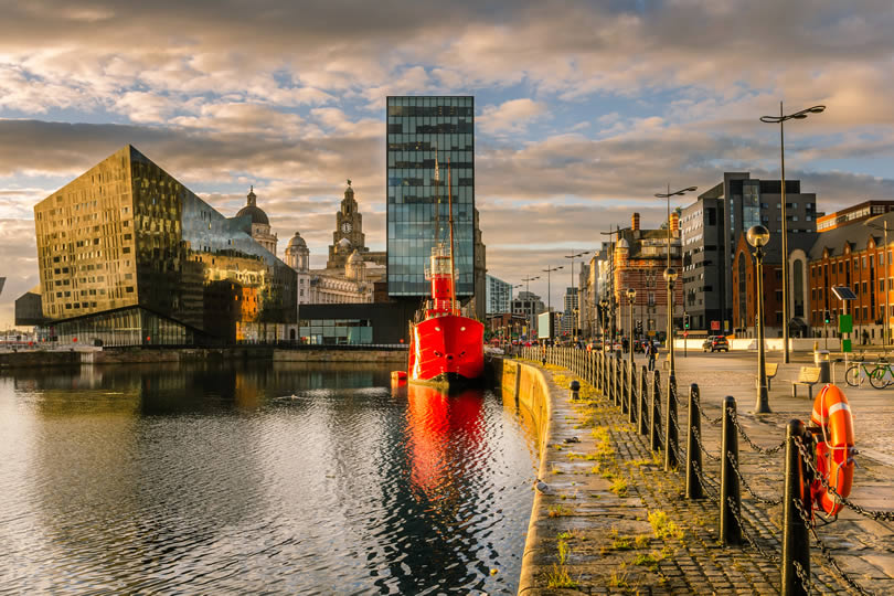 Liverpool docks and River Mersey