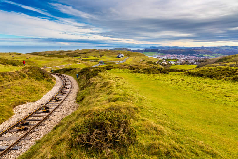 Great Orme railway in North Wales