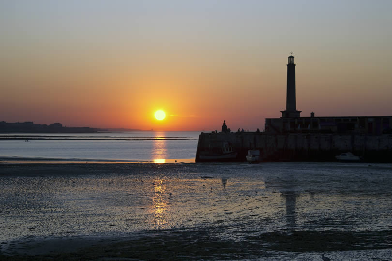 Sunset in Margate Kent Isle of Thanet
