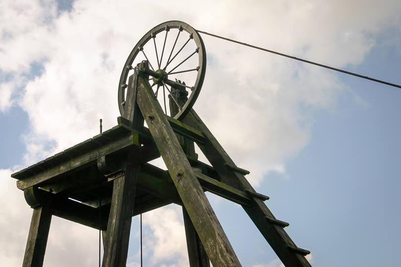old Victorian mining wheel
