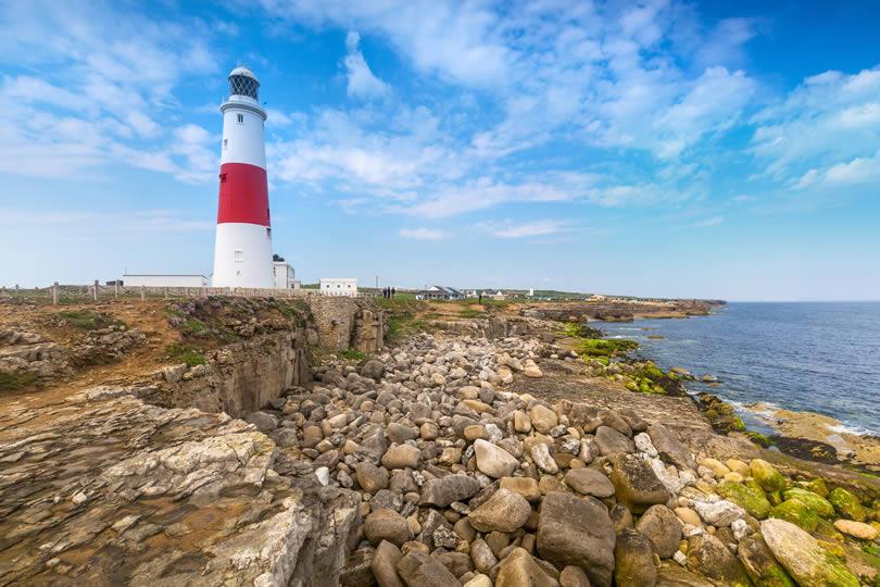 Portland Bill Lighthouse in Dorset UK