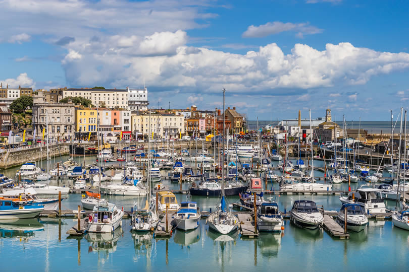 Ramsgate harbour and marina in England