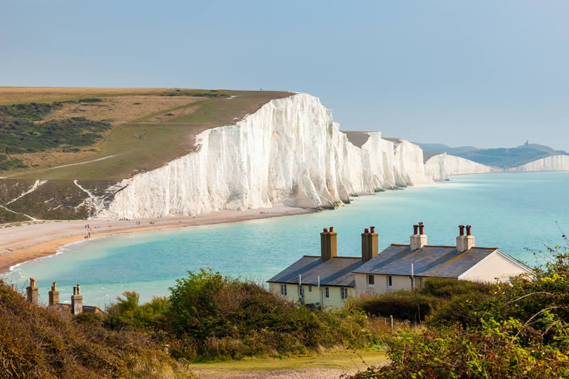 Seven Sisters Chalk Cliffs near Eastbourne
