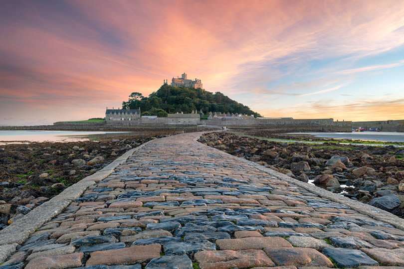 St Michaels Mount near Penzance in Cornwall