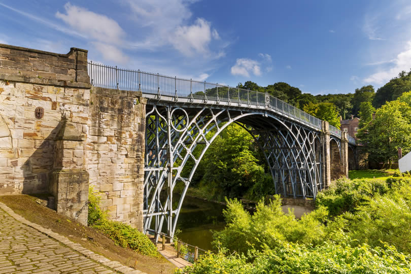 Ironbridge Gorge in Shropshire England