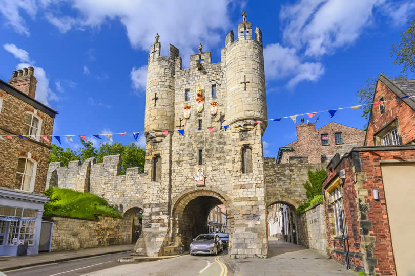 Micklegate gate in York England UK