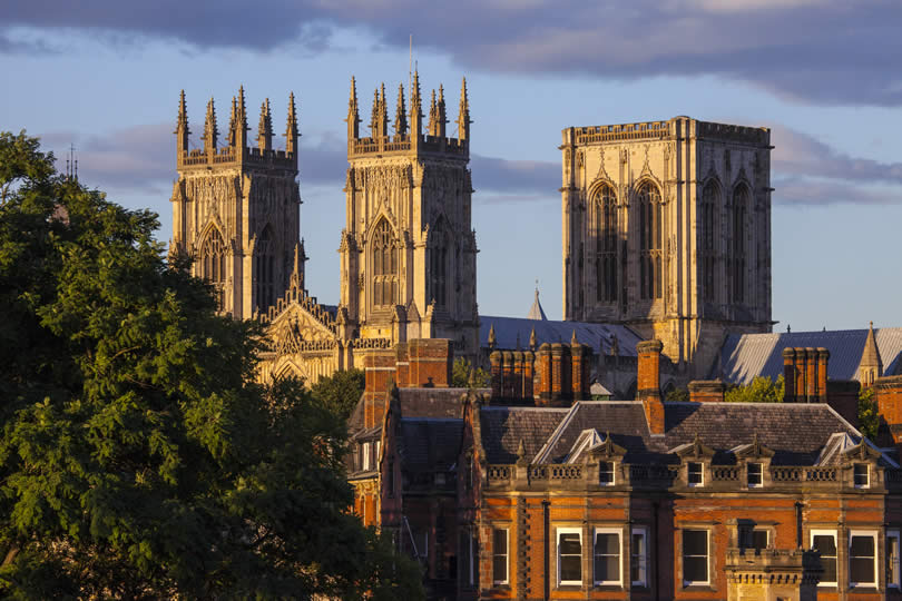York cityscape with York Minster