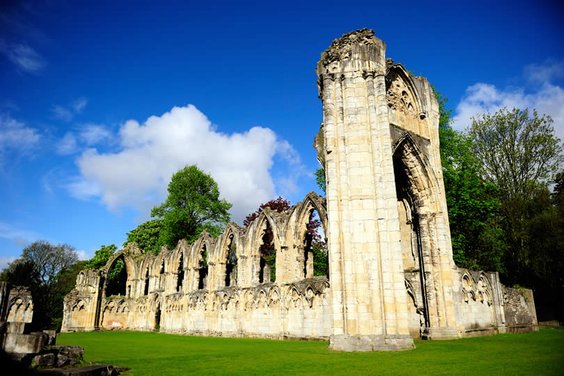 St. Marys Abbey in the Museum Gardens York