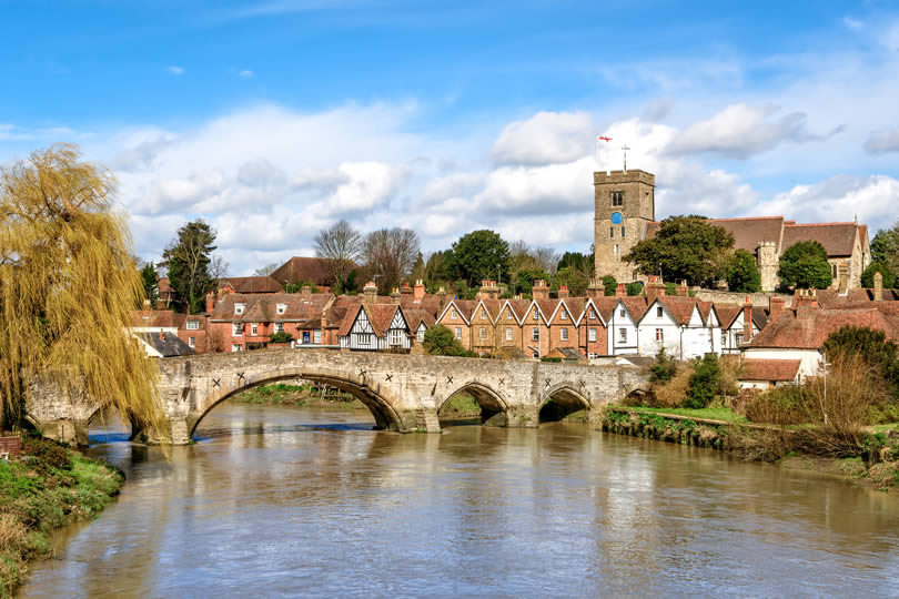 The village of Aylesford in Kent