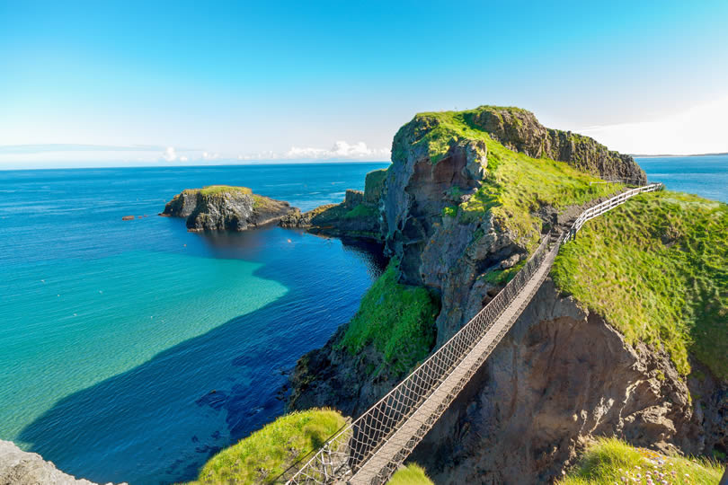 Northern Ireland Carrick-a-rede rope bridge