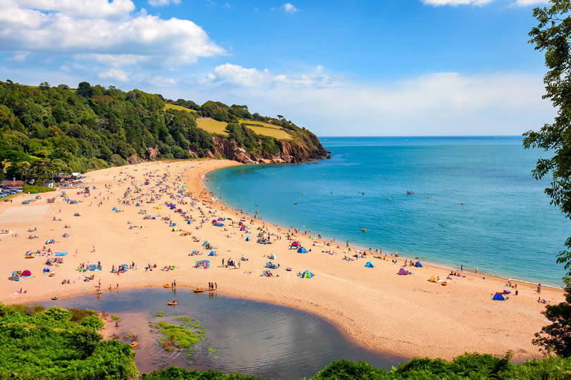 Blackpool Sands beach in Devon UK