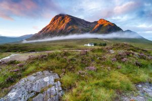 mountain peaks at Glencoe in the Highlands of Scotland