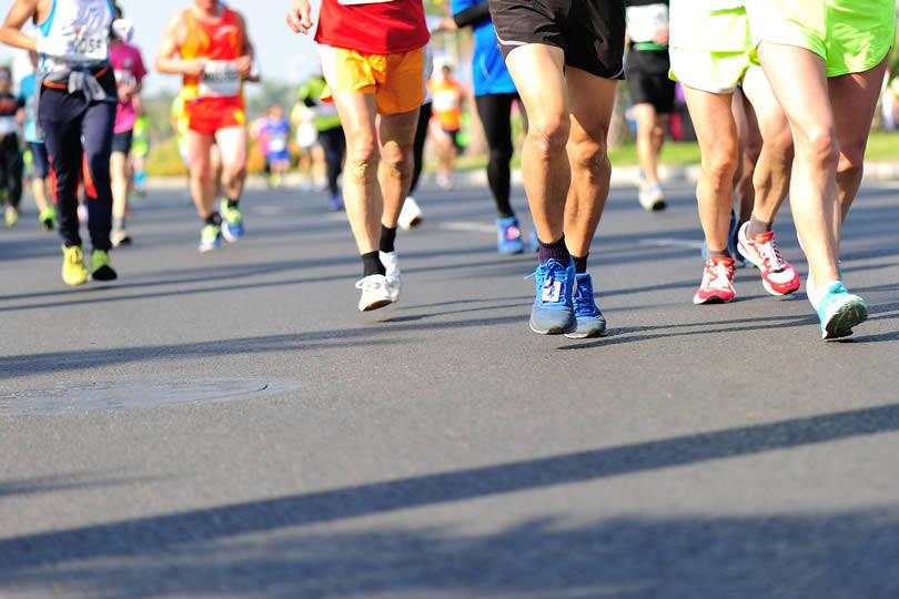 Marathon runners in Britain