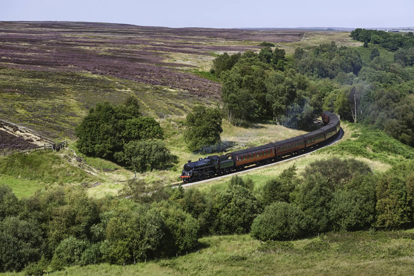 North Yorkshire Moors vintage steam train