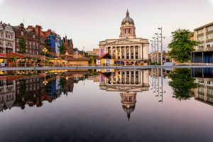 Nottingham City Centre in England
