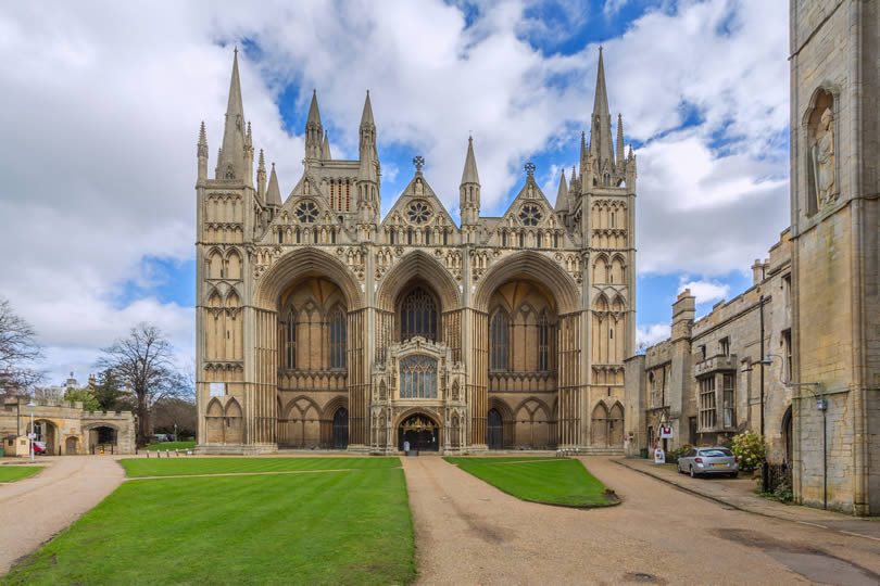 Peterborough Cathedral in Cambridgeshire England