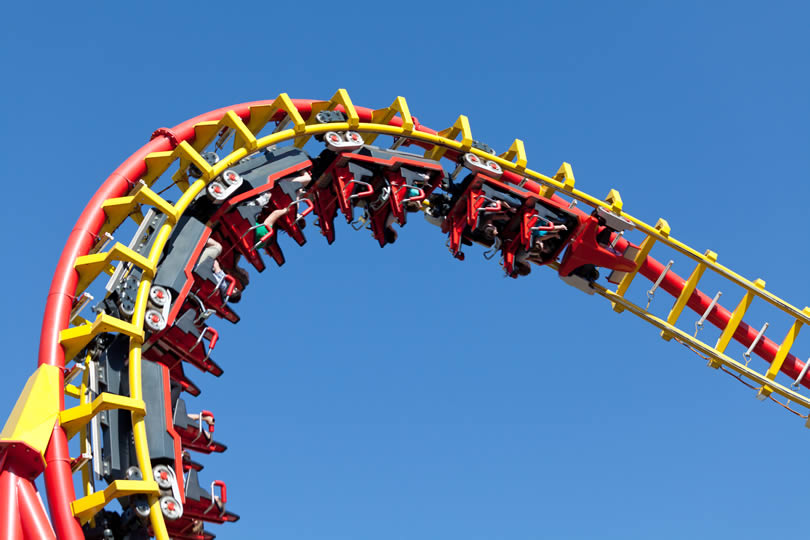 Theme park ride in England
